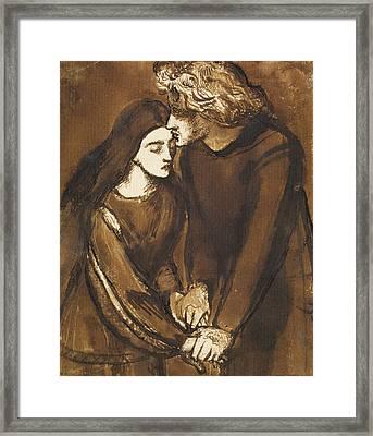 Two Lovers Framed Print by Dante Gabriel Rossetti