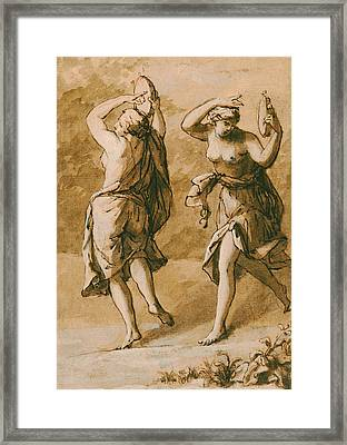 Two Maenads Framed Print by John Michael Rysbrack
