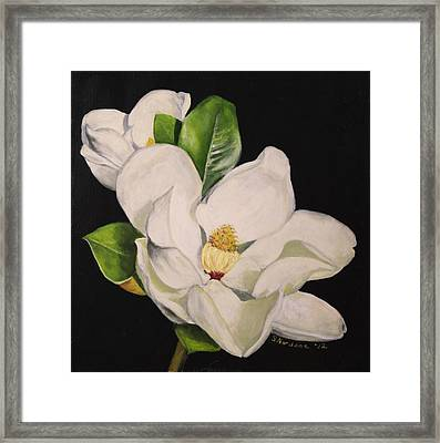 Two Magnolias Framed Print