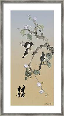 Two Magpies                       Framed Print