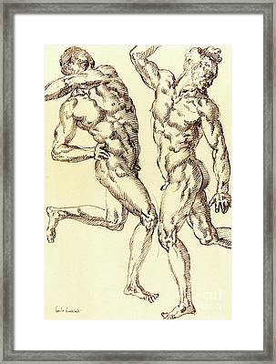 Two Male Nude Studies Framed Print