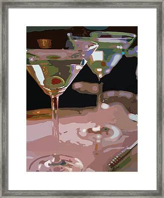 Two Martini Lunch Framed Print by David Lloyd Glover