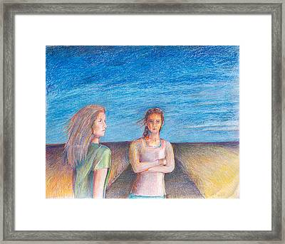 Two Marys Framed Print by Laurie Parker