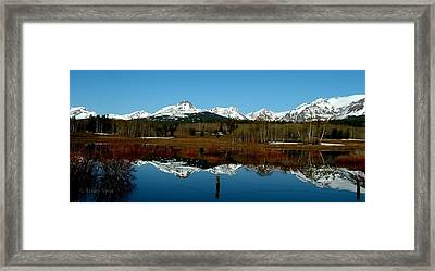 Two Med River Reflection Framed Print