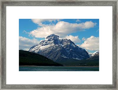 Two Medicine Lake And Rising Wolf Mountain Framed Print
