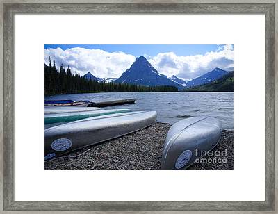 Two Medicine Lake Framed Print by Idaho Scenic Images Linda Lantzy