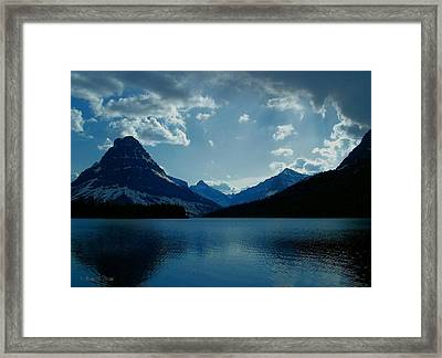 Two Medicine Lake Framed Print