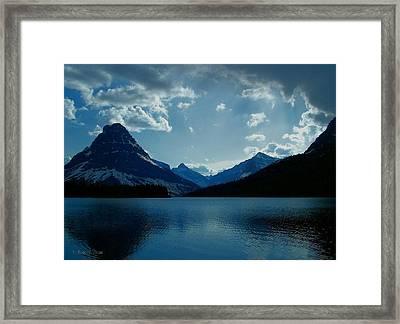 Two Medicine Lake Framed Print