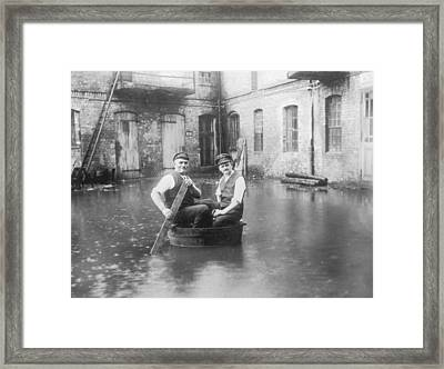 Two Men In A Tub Framed Print