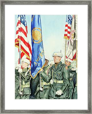 Two Months After 9-11  Veteran's Day 2001 Framed Print