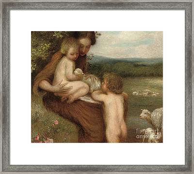 Two Mothers  Framed Print by William Edward Stott
