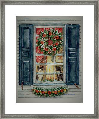 Two Muses Williamsburg Christmas Framed Print