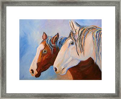Two Mustangs Framed Print
