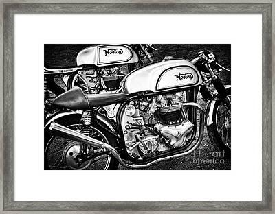 Two Norton Cafe Racers Framed Print