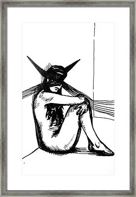 Two Of Swords Framed Print by Dominique Rose