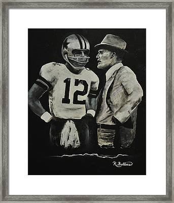 Two Of The Greastest Minds In Pro-football Framed Print by Robert Ballance