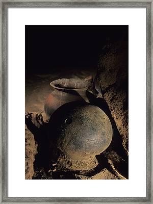 Two Of The Hundreds Of Pots Found Framed Print by Stephen Alvarez