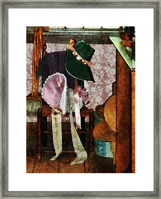 Two Old-fashioned Bonnets Framed Print by Susan Savad