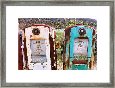 Two Old Gas Pumps Framed Print by Matt Suess