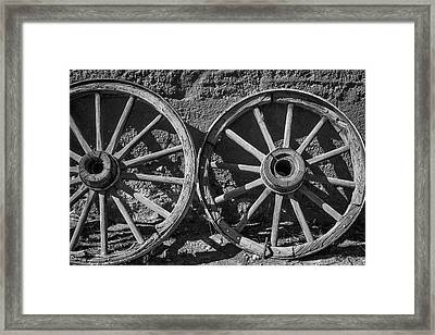 Two Old Wagon Wheels Framed Print