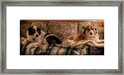 Two On The Couch Framed Print