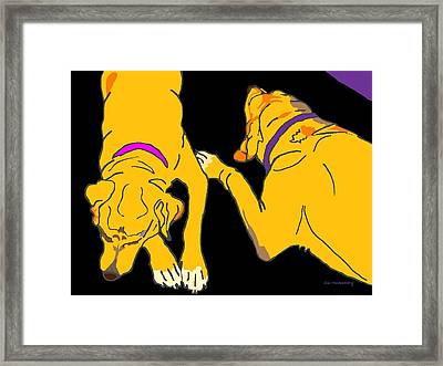 Two On The Floor Framed Print by Su Humphrey