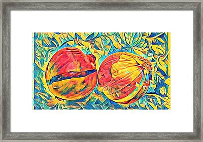 Two Onions Framed Print