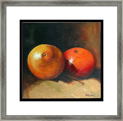 Two Oranges Framed Print by Pepe Romero