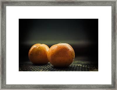 Two Oranges Framed Print
