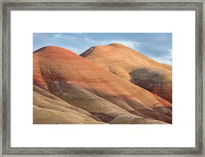 Framed Print featuring the photograph Two Painted Hills by Greg Nyquist