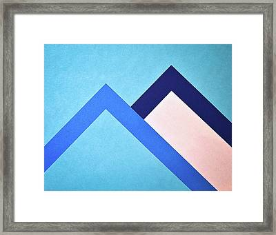 Two Papers Moutains Framed Print by Jozef Jankola