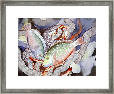 Two Parrots Framed Print by Liduine Bekman