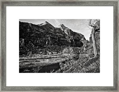 Two Peaks - Bw Framed Print by Christopher Holmes