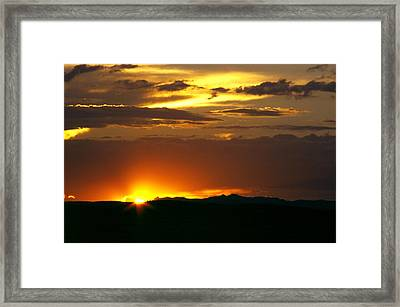 Two Peaks Sunset Framed Print by Lynard Stroud
