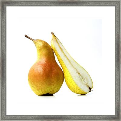 Two Pears Framed Print by Bernard Jaubert