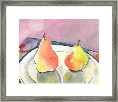 Two Pears Framed Print
