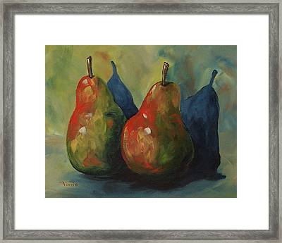 Two Pears  Framed Print by Torrie Smiley