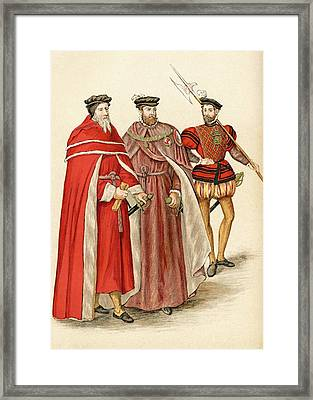 Two Peers In Their Robes, And A Framed Print by Vintage Design Pics