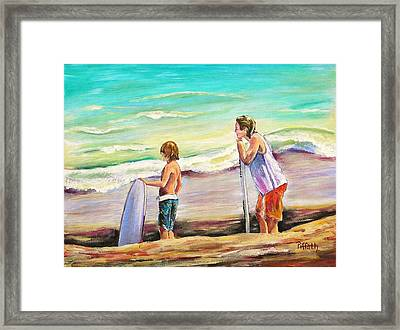 Two Perfect Waves Framed Print