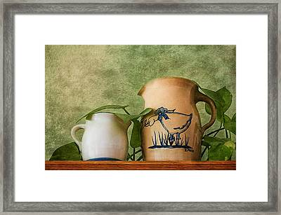 Two Pitchers Framed Print by Mitch Spence