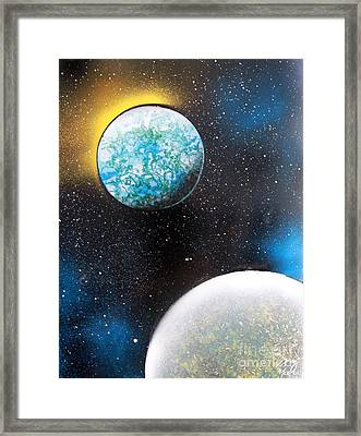 Two Planets Framed Print by Greg Moores