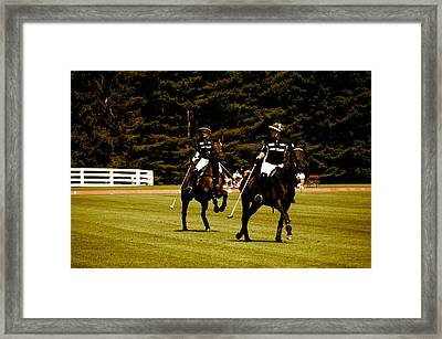 Two Polo Players Framed Print