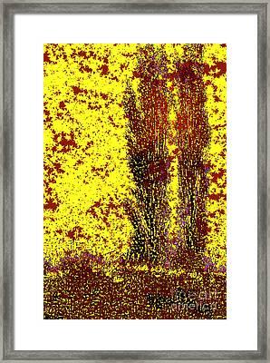 Two Poplars Framed Print by Robert Todd