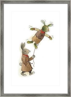 Two Rabbits 02 Framed Print by Kestutis Kasparavicius