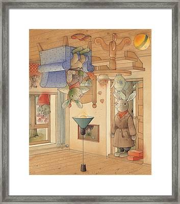 Two Rabbits Framed Print by Kestutis Kasparavicius