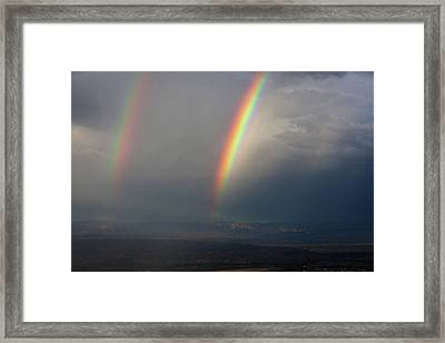Framed Print featuring the photograph Two Rainbows by Ron Chilston