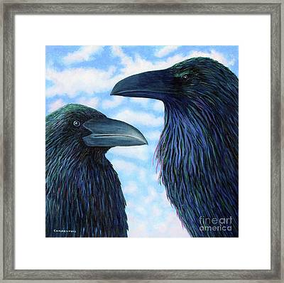 Two Ravens Framed Print