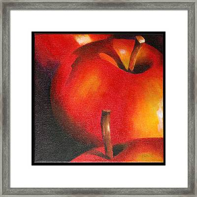 Two Red Apple Framed Print by Pepe Romero
