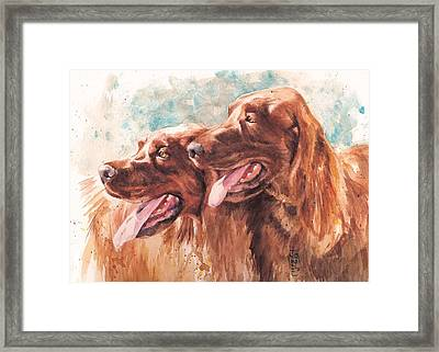 Two Redheads Framed Print by Debra Jones