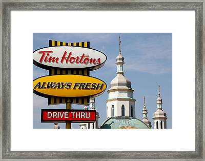 Two Religions Framed Print by Andrew Fare